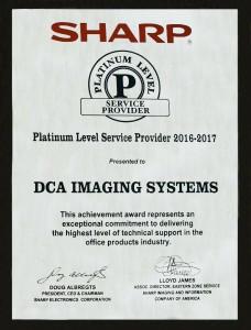 Sharp Platinum Award